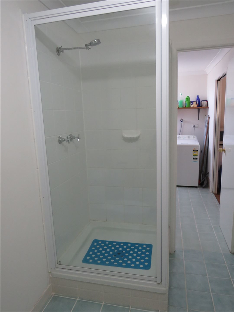 shower in shed unit