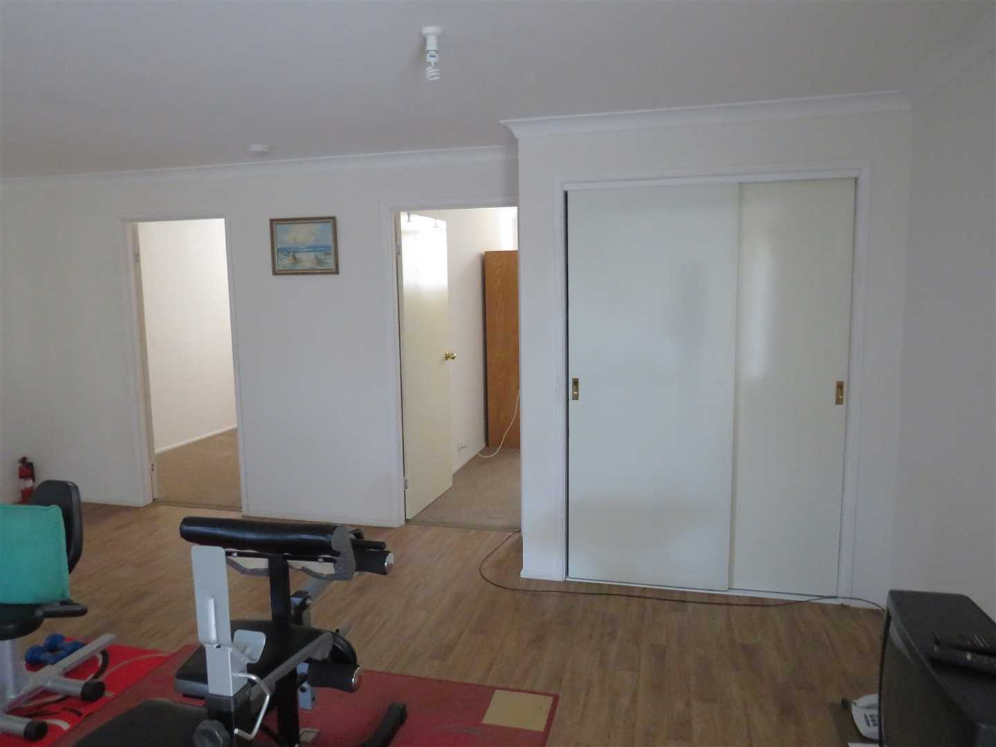 linen cupboard and 2 rooms in shed unit