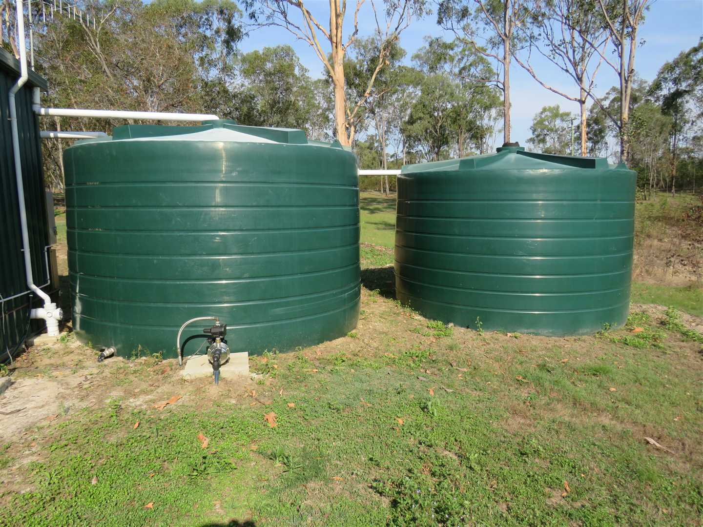 2 x 22000 ltr tanks interconnected to house tank and 4th tank