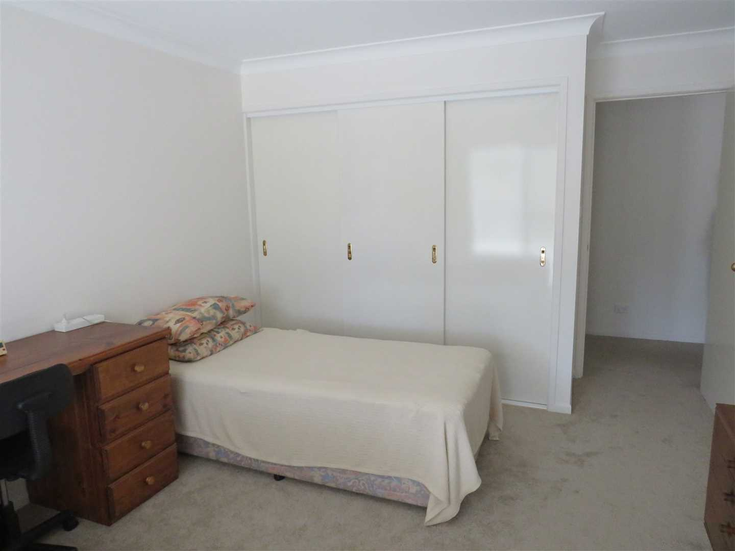 Bedroom 1 with built in robe,carpeted