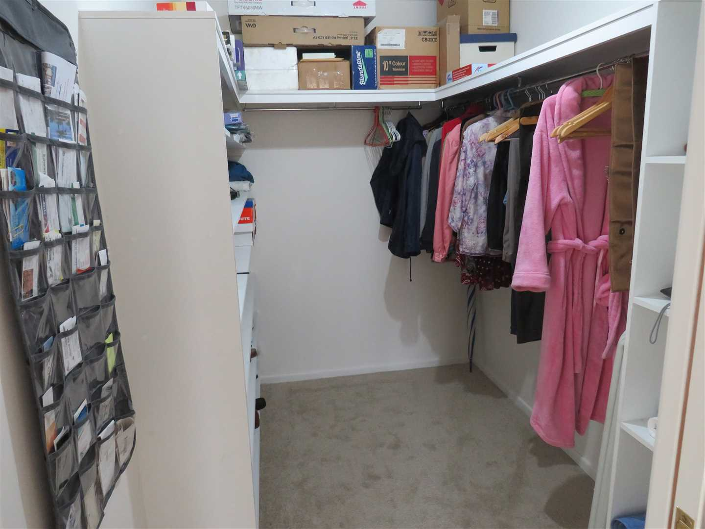 shelving and hanging space