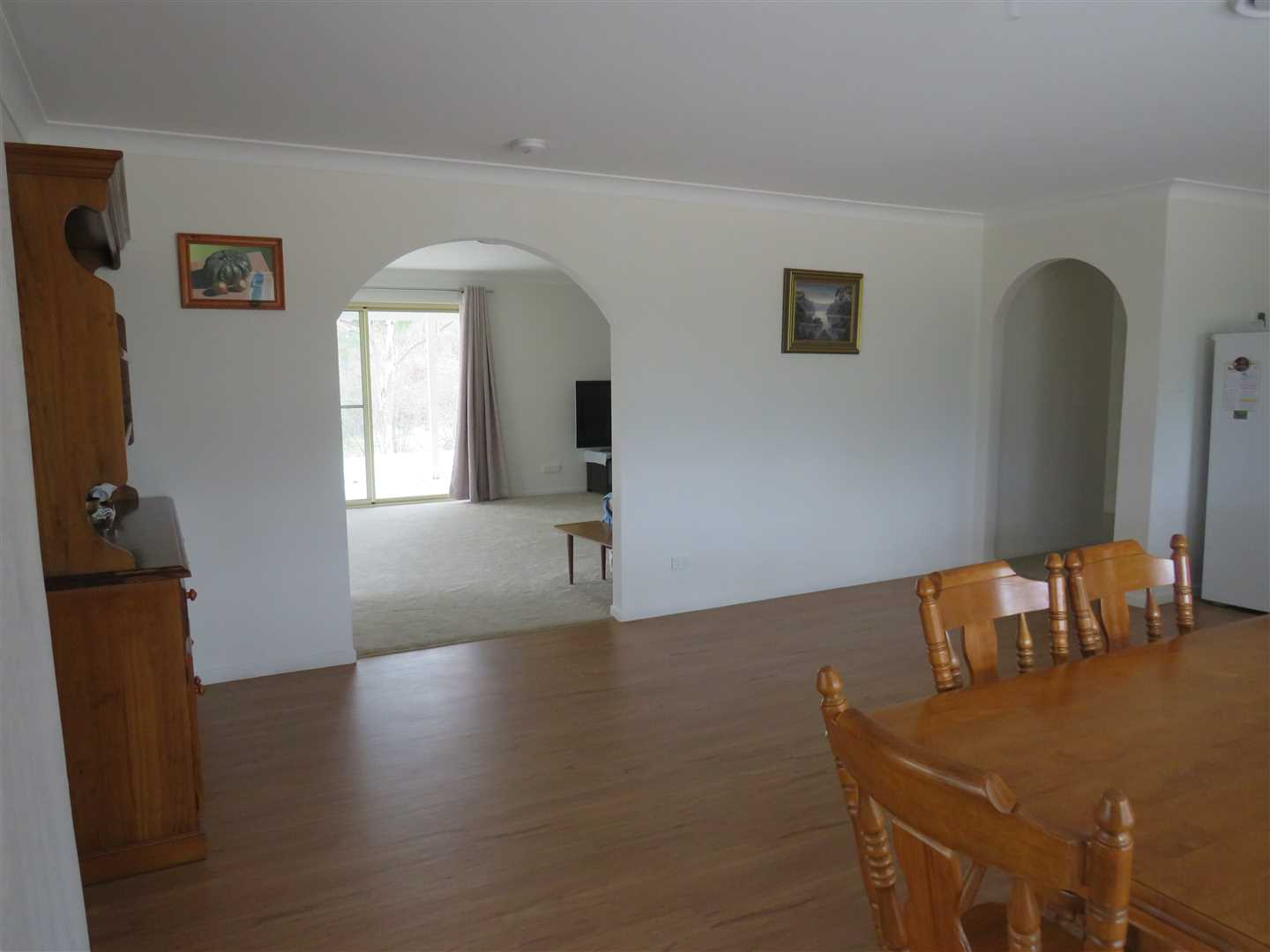 open plan Kitchen/dining and separate lounge