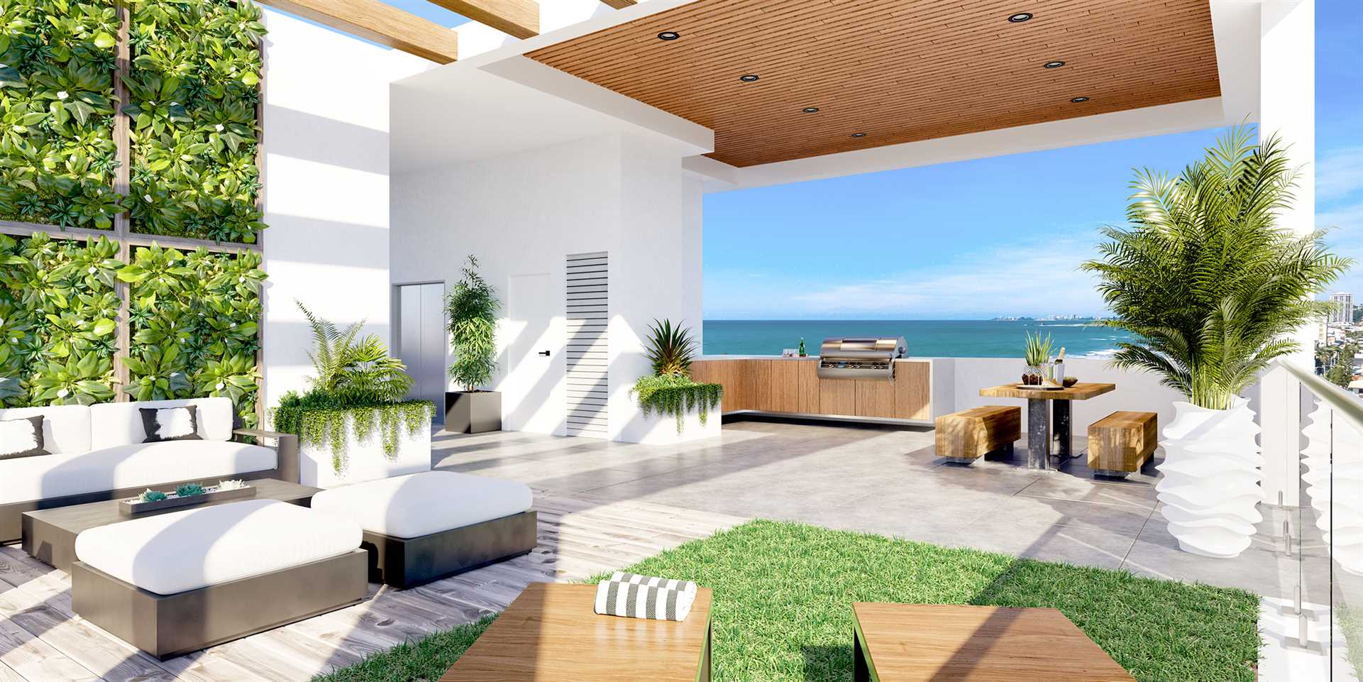 Luxury Apartment with Rooftop Pool and Lounge