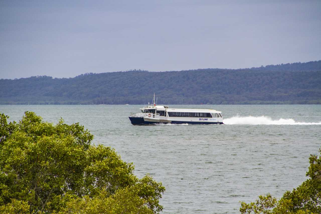View of ferry from property