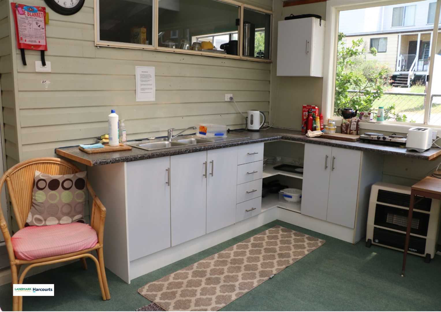 One of the guest kitchens