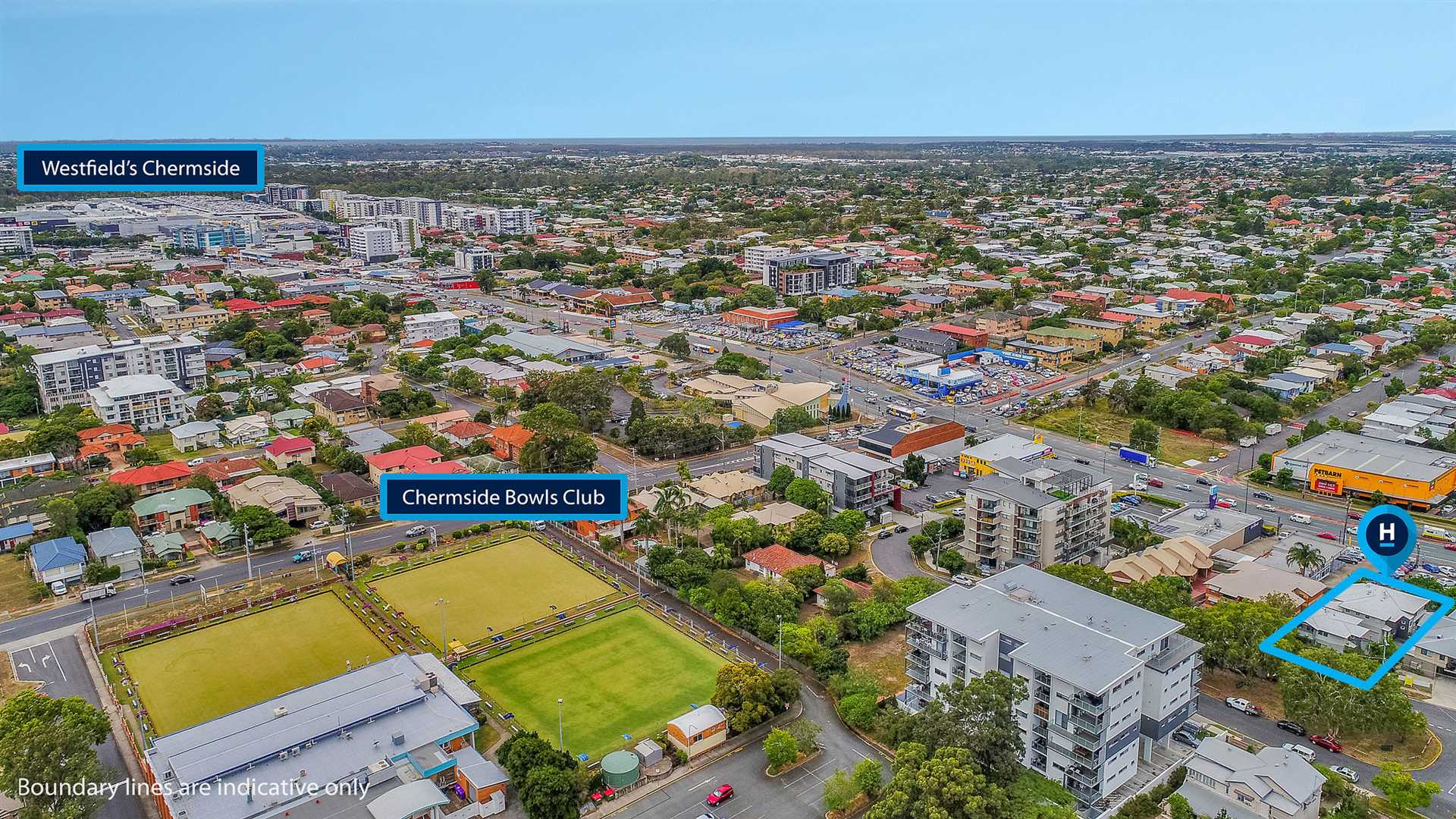 Views North to Westfield Shopping Town Chermside