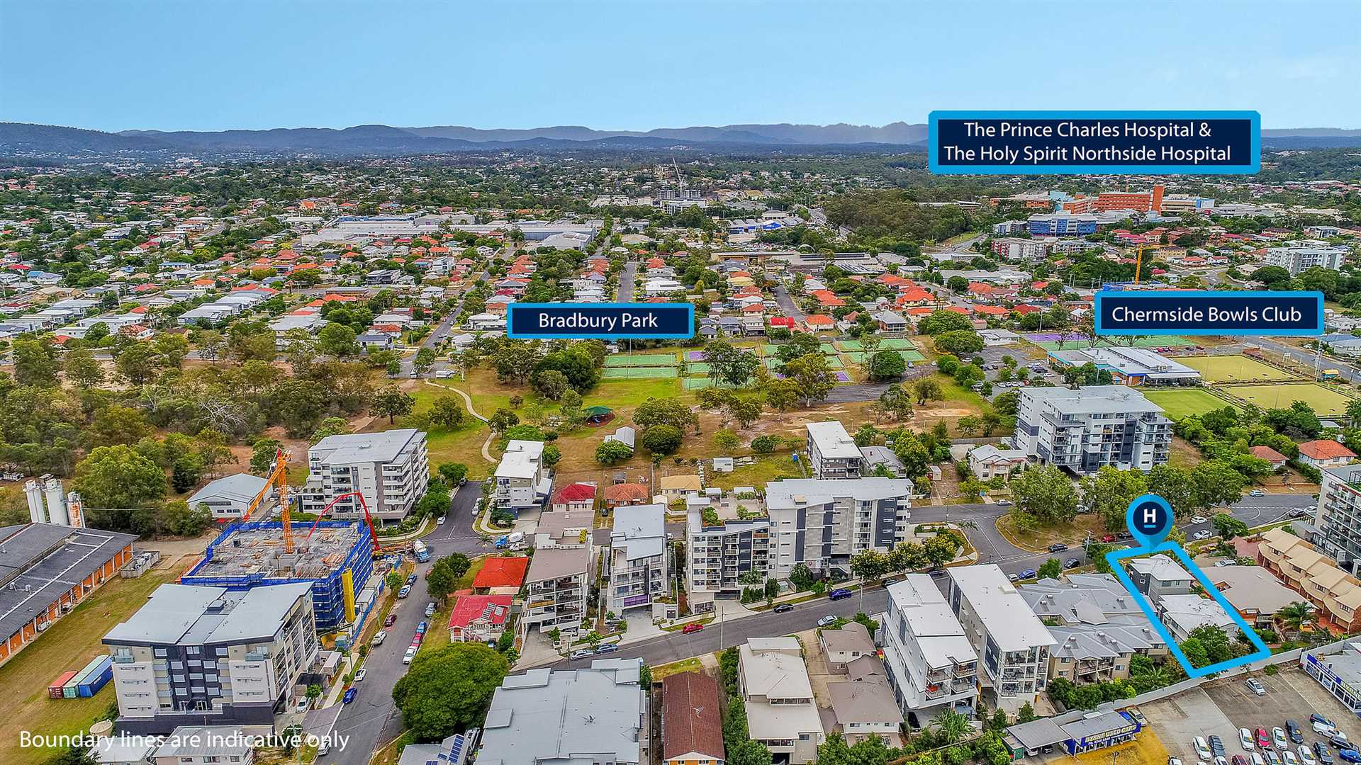 Views West to Chermside Two Hospitals
