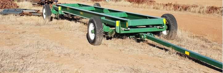 7.5m Steering Chassis  - 6T Trailer New Trailer (Prototype) Front and rear steer trailer. Suitable  For 30-40' Comb Trailer, or multipurpose uses. Functional