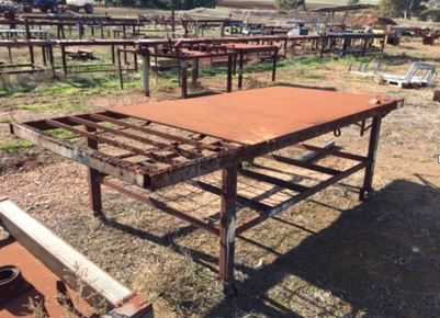 Steel work benches Various large and small solid steel work welding benches