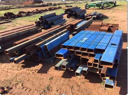 Multiple RHS Steel Bundles, Plate off cuts etc