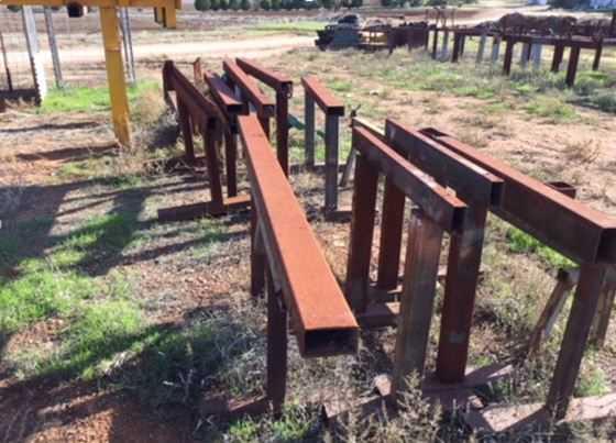 Various Trestles, stands, Roller beds, Steel base frames etc