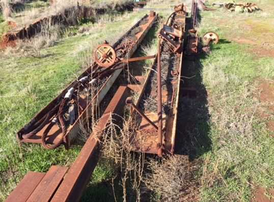 Disassembled Bridge Ganty Crane and Trolley Made from 500x170x15mm UB @2x 9m long