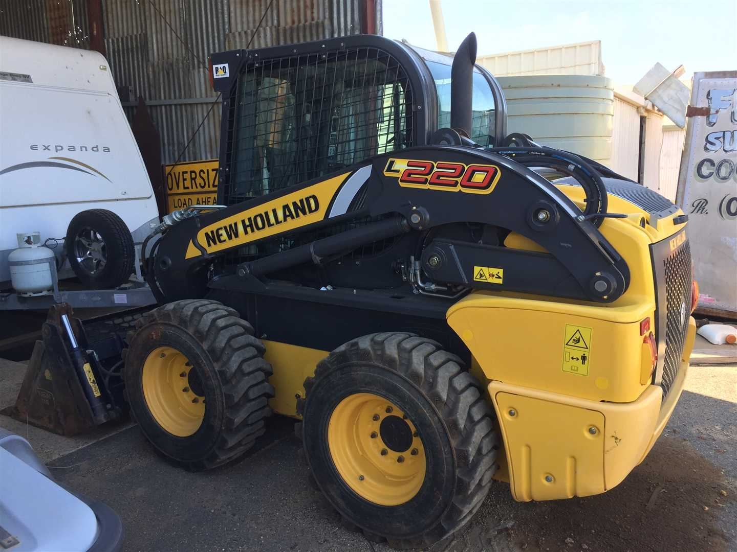NH L220 skid steer loader