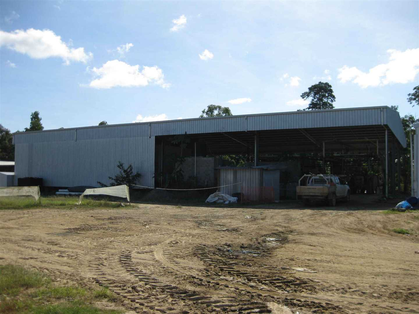 Outside view of part of packing shed, photo 1