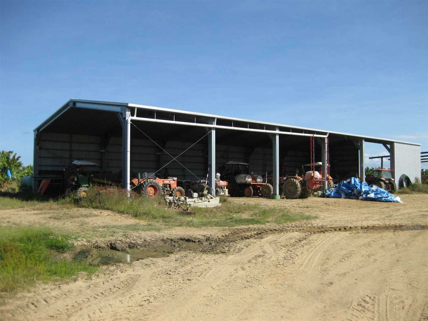 View of part of 6 bay machinery shed, photo 2