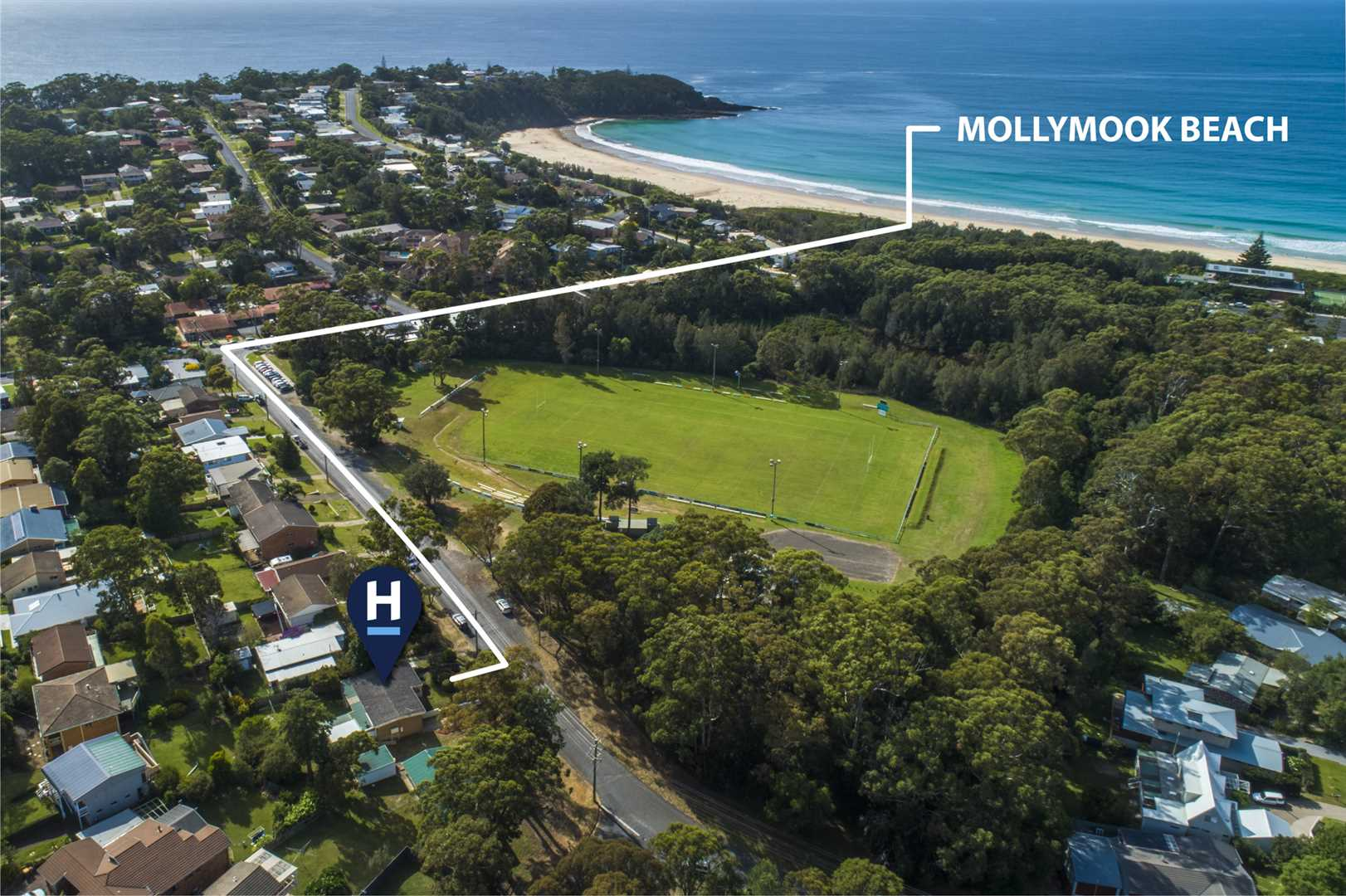 Aerial Shot of Mollymook