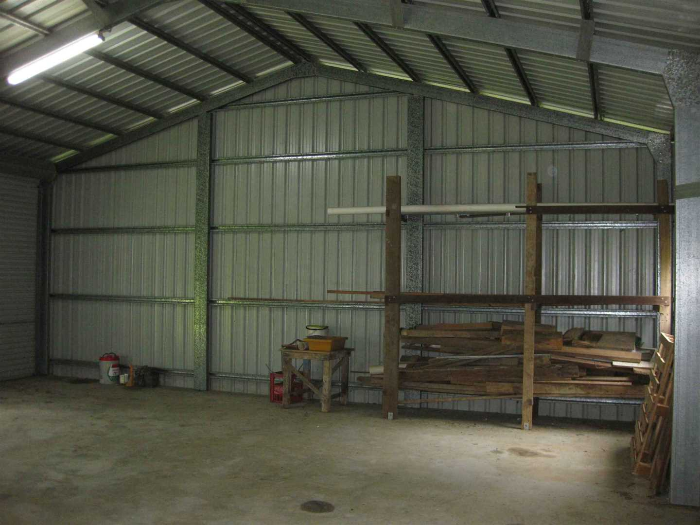 Inside view of part of shed, photo 1