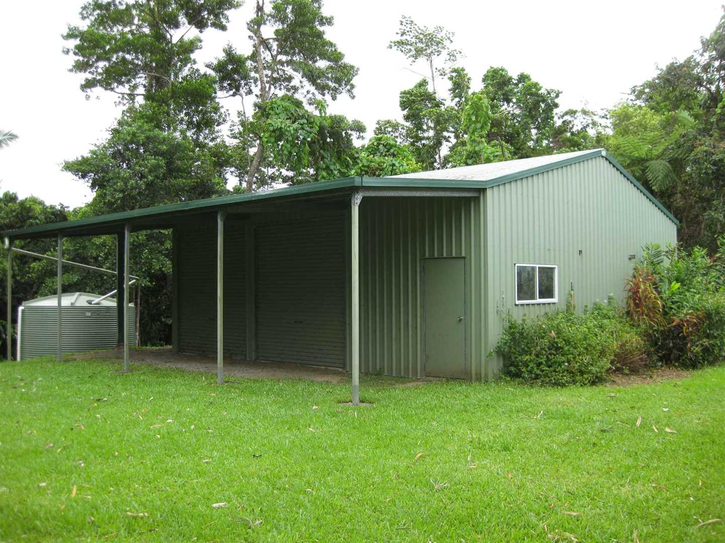 Outside view of part of shed, photo 1