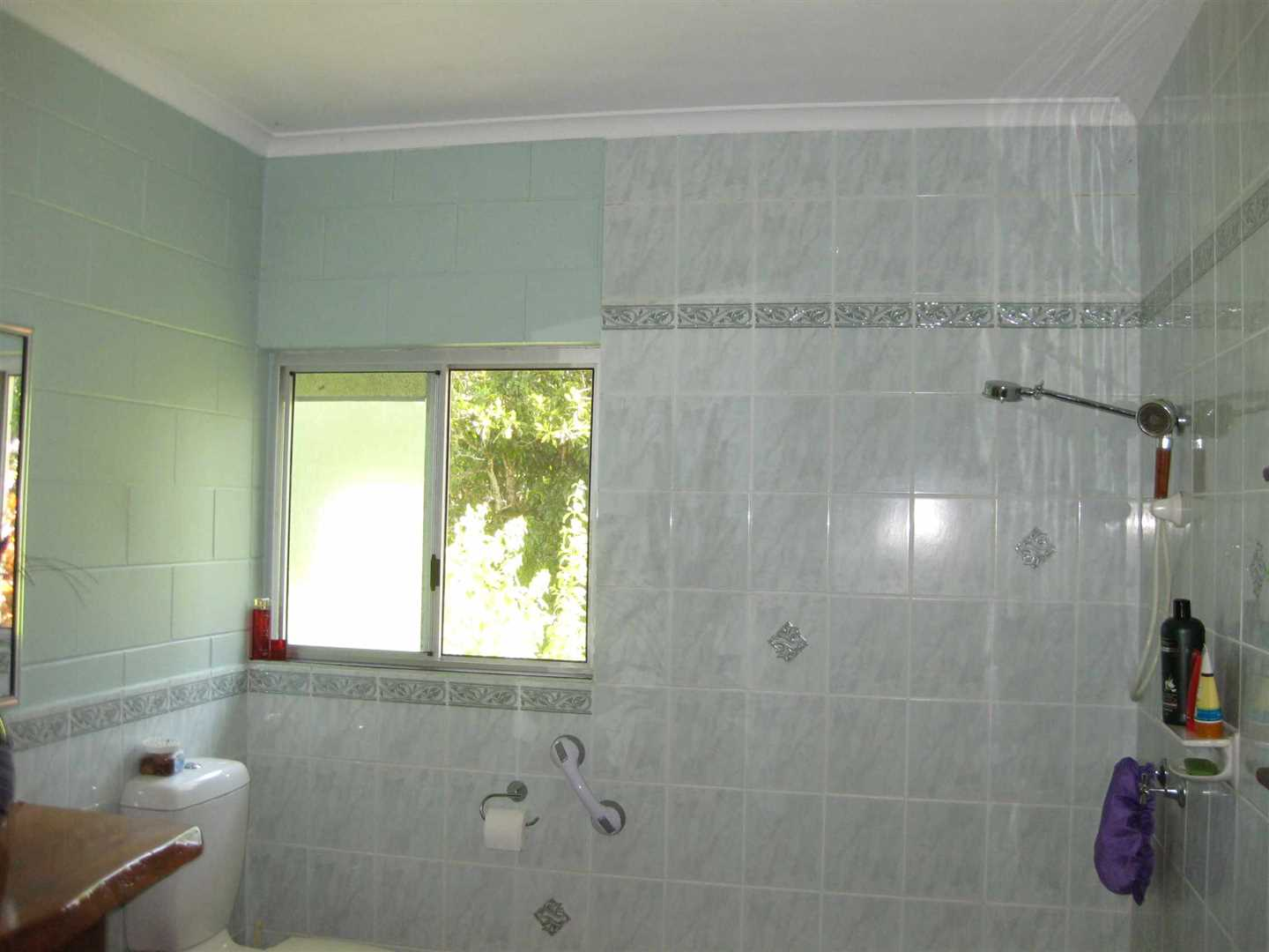 Inside view of part of home showing part of the bathroom, photo 1