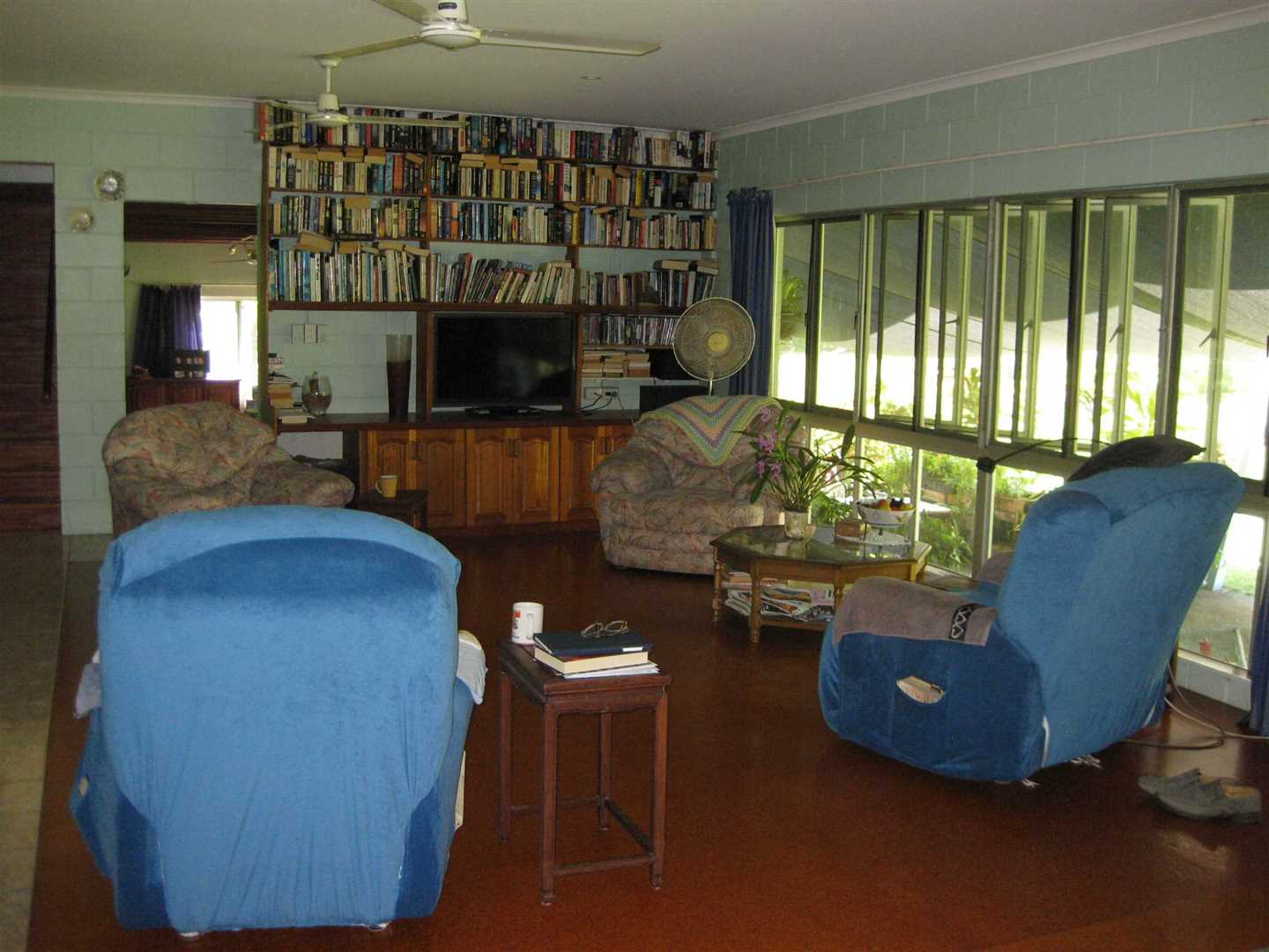 Inside view of part of home showing part of the lounge