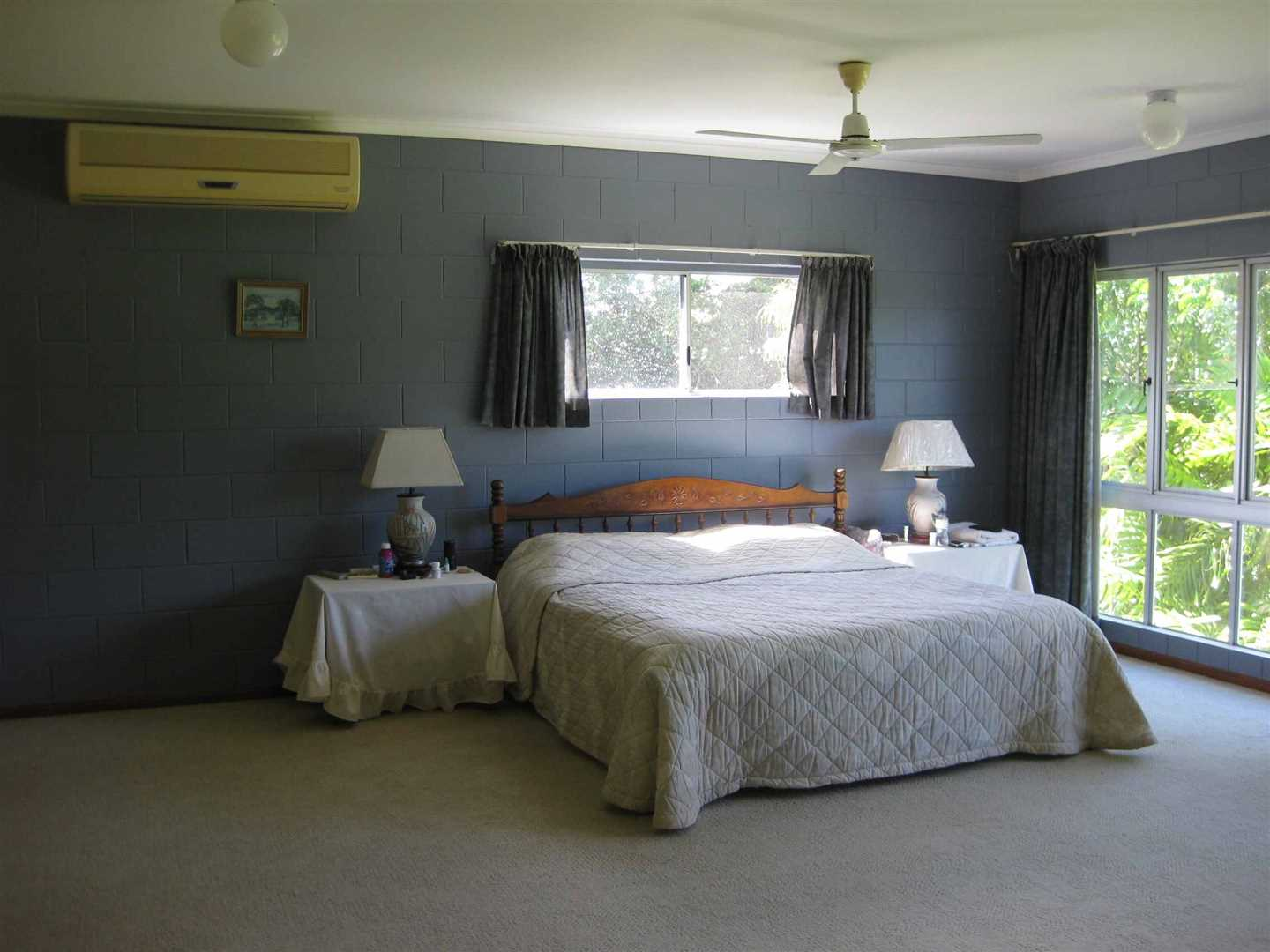 Inside view of part of home showing part of the main bedroom, photo 1