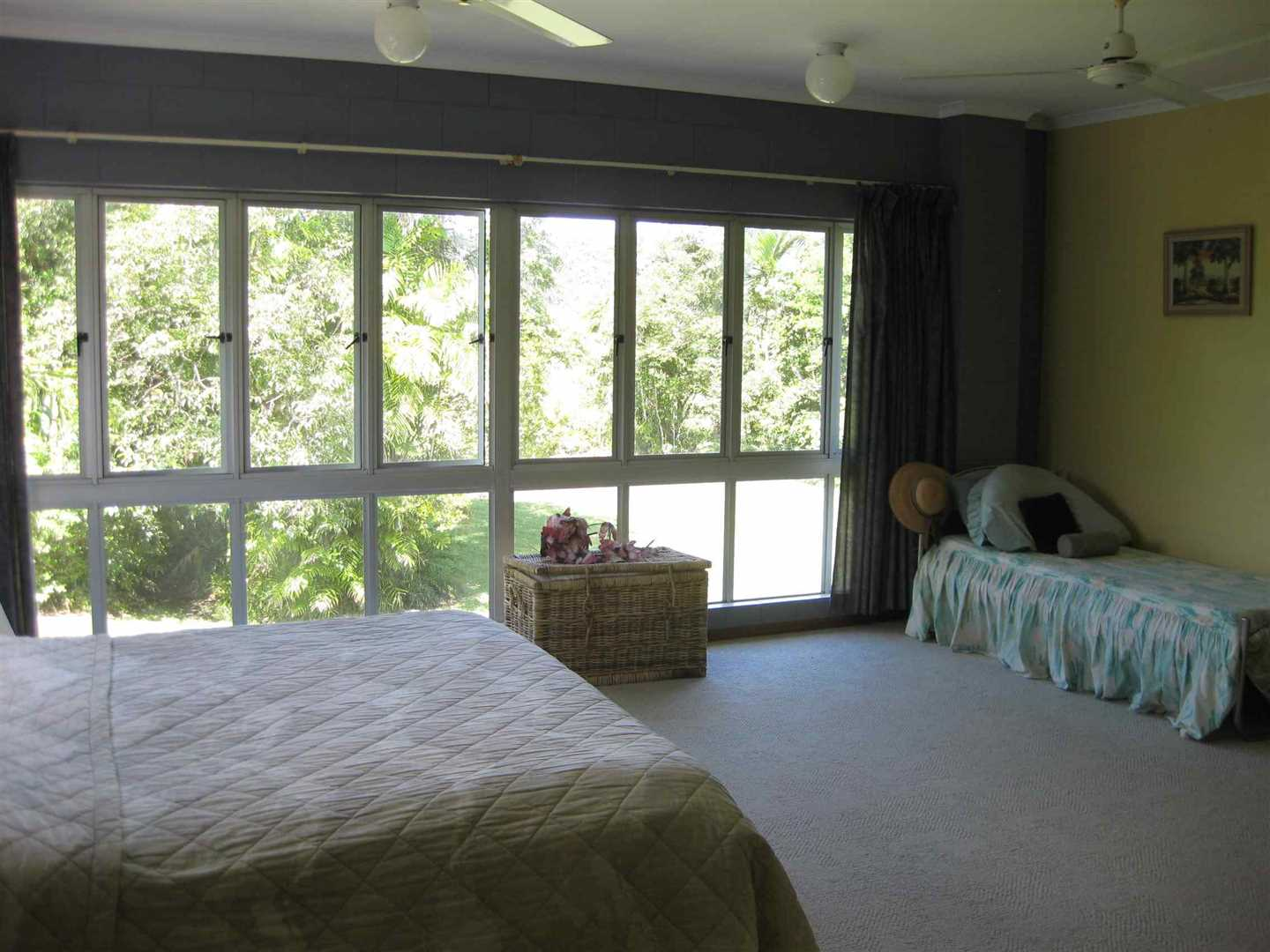 Inside view of part of home showing part of the main bedroom, photo 2