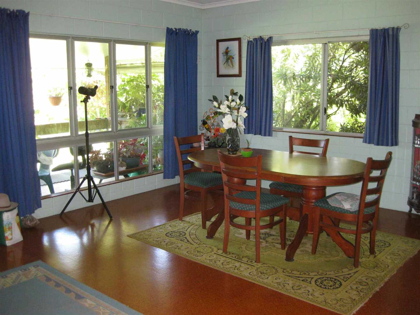 Inside view of part of home showing the dining area