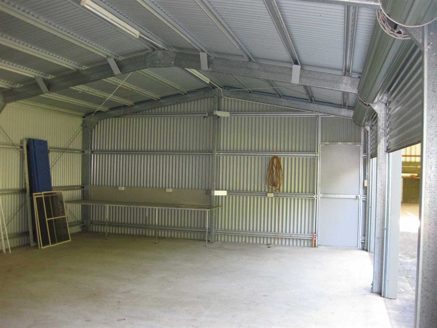 Inside view of part of three bay lockable shed, photo 2