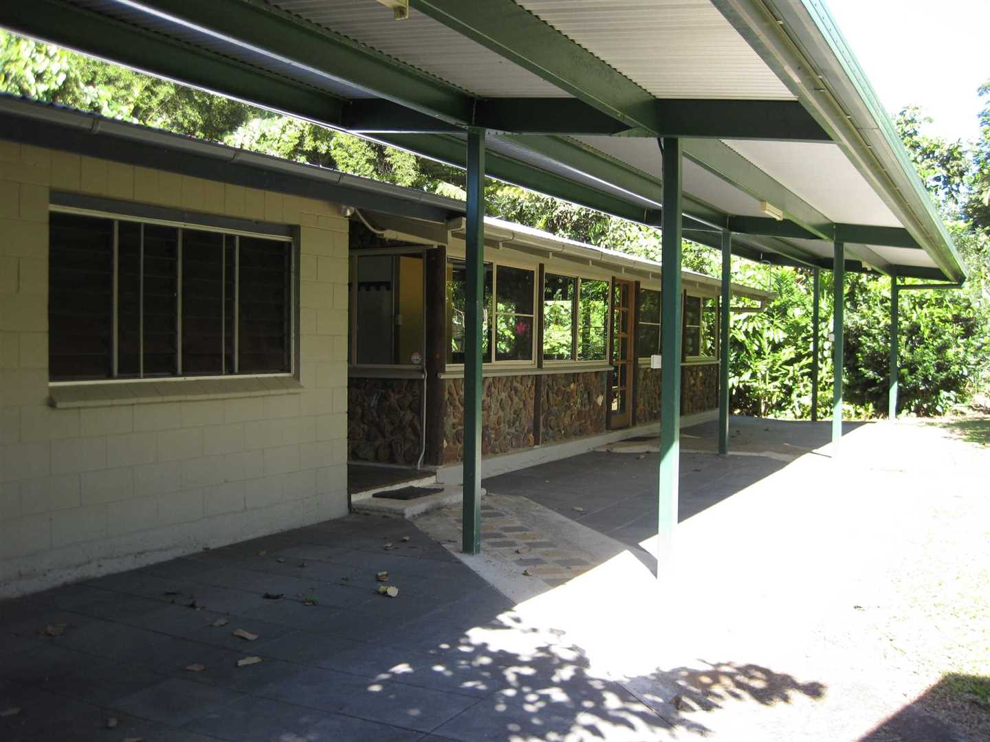Outside view of part of home and front verandah