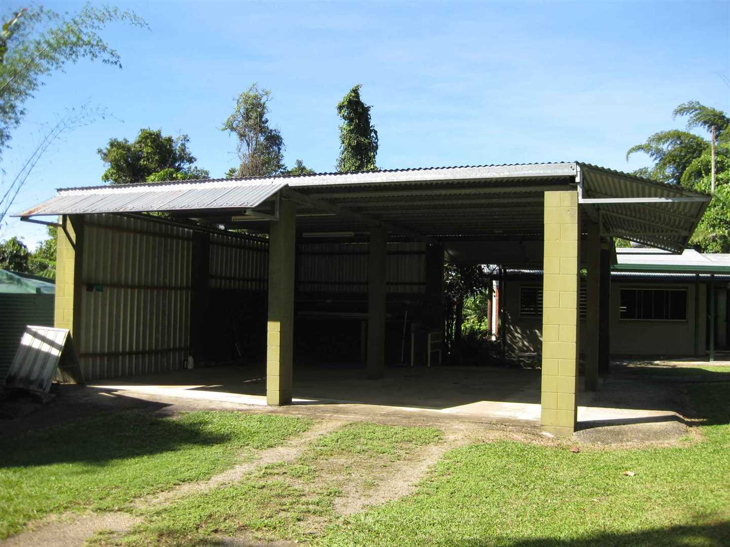 Outside view of part of two bay carport, photo 1