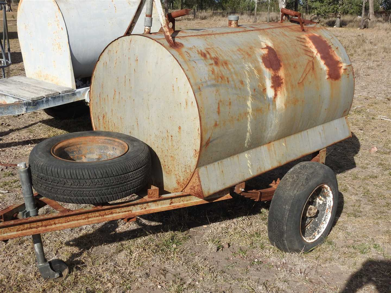 1000l fuel trailer  with stroke pump
