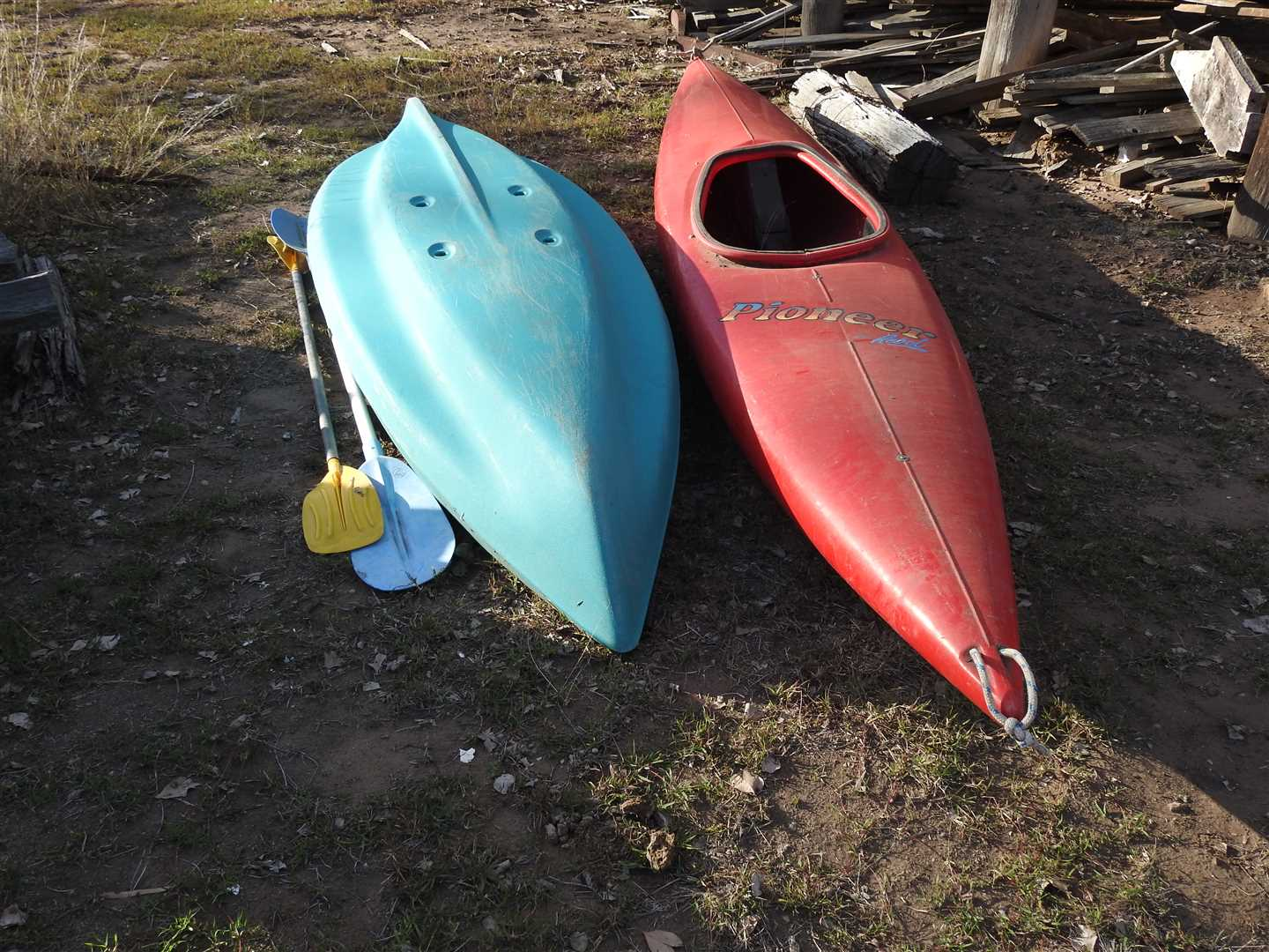 Two Canoes- plastic