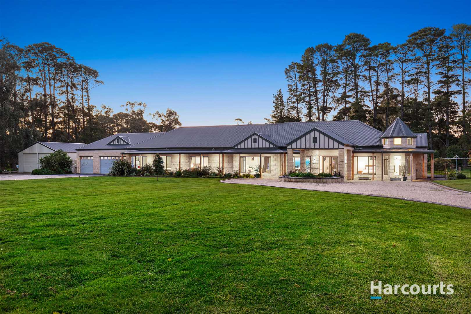 Fantastic Tranquil Ranch Style Living on 4.96 Acres