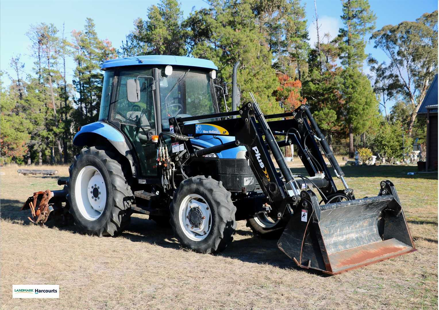 Tractor and various other equipment included in the sale