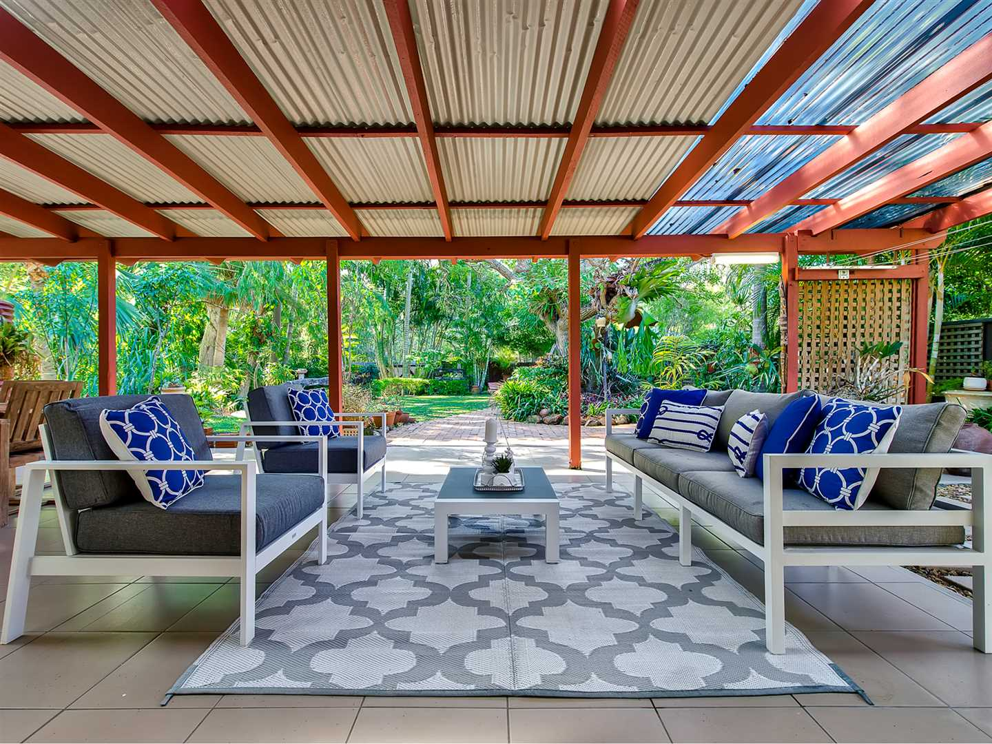 Private low-set on a landscaped double block