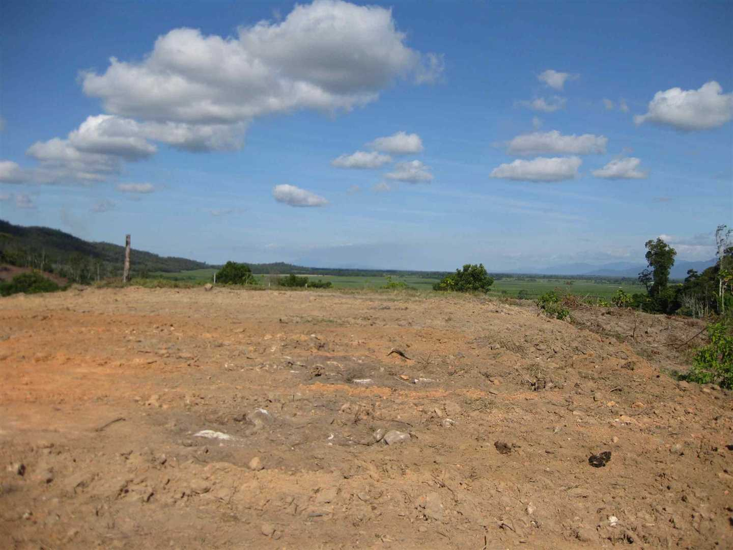 View of part of elevated cleared level homesite area (old photo, to be updated)