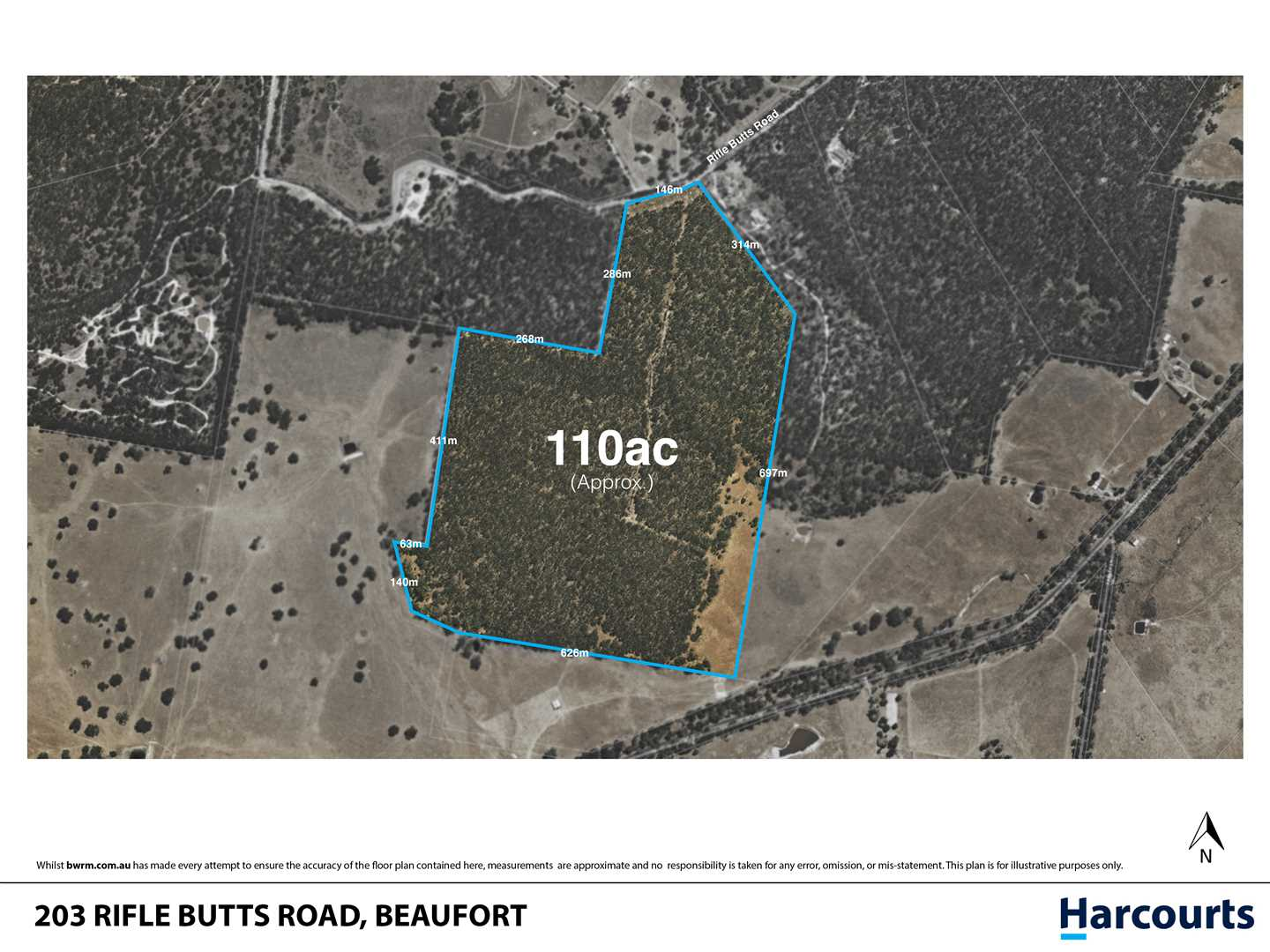 Large Bush Allotment in Popular Beaufort - Approx 108 Acres