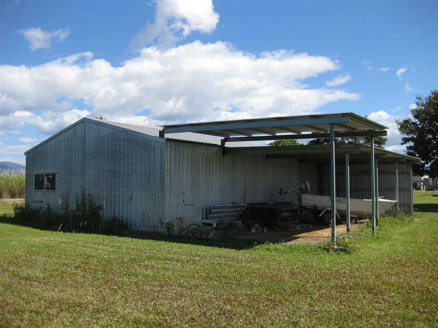 View of part of large lockable shed and skillion area, photo 2