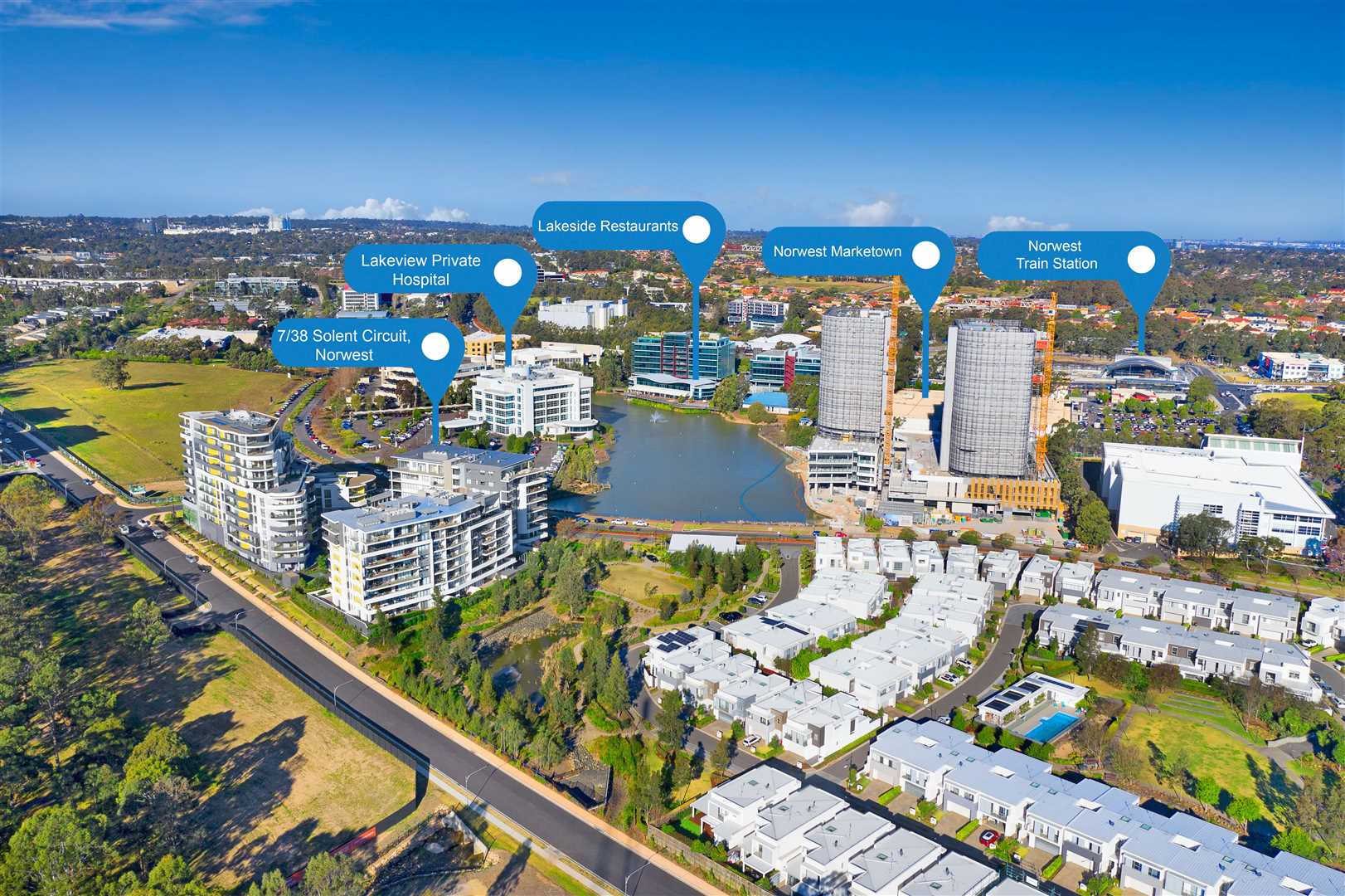 Luxury Apartment Living - Walk To Norwest Train Station