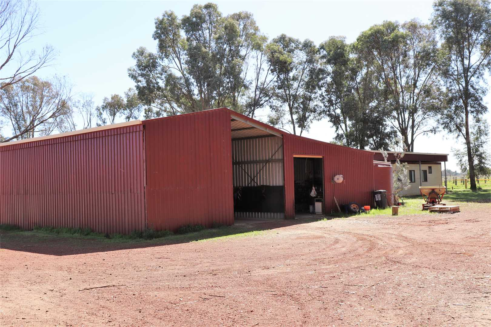 Workshop and Hay shed
