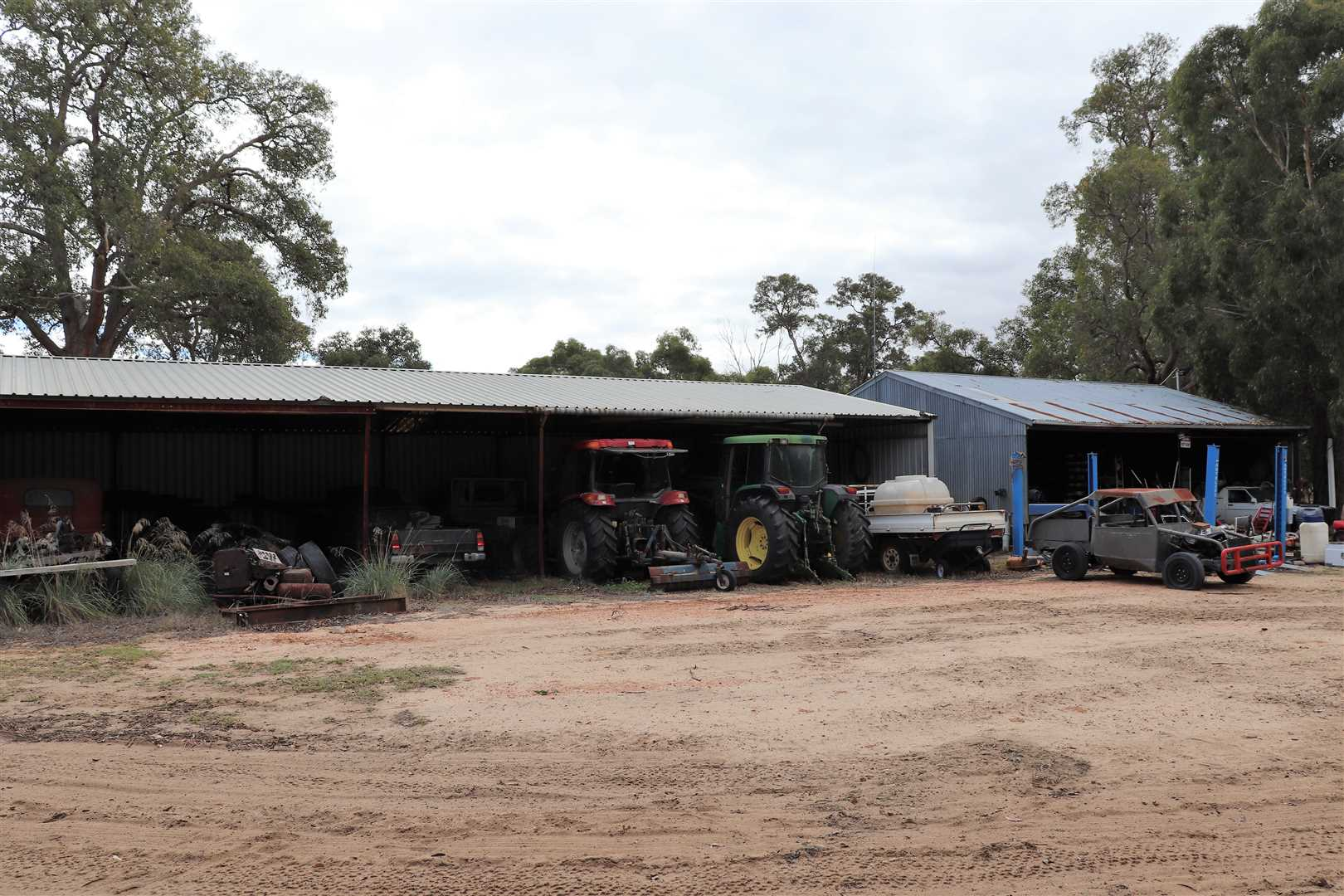 Tractor Shed, near House