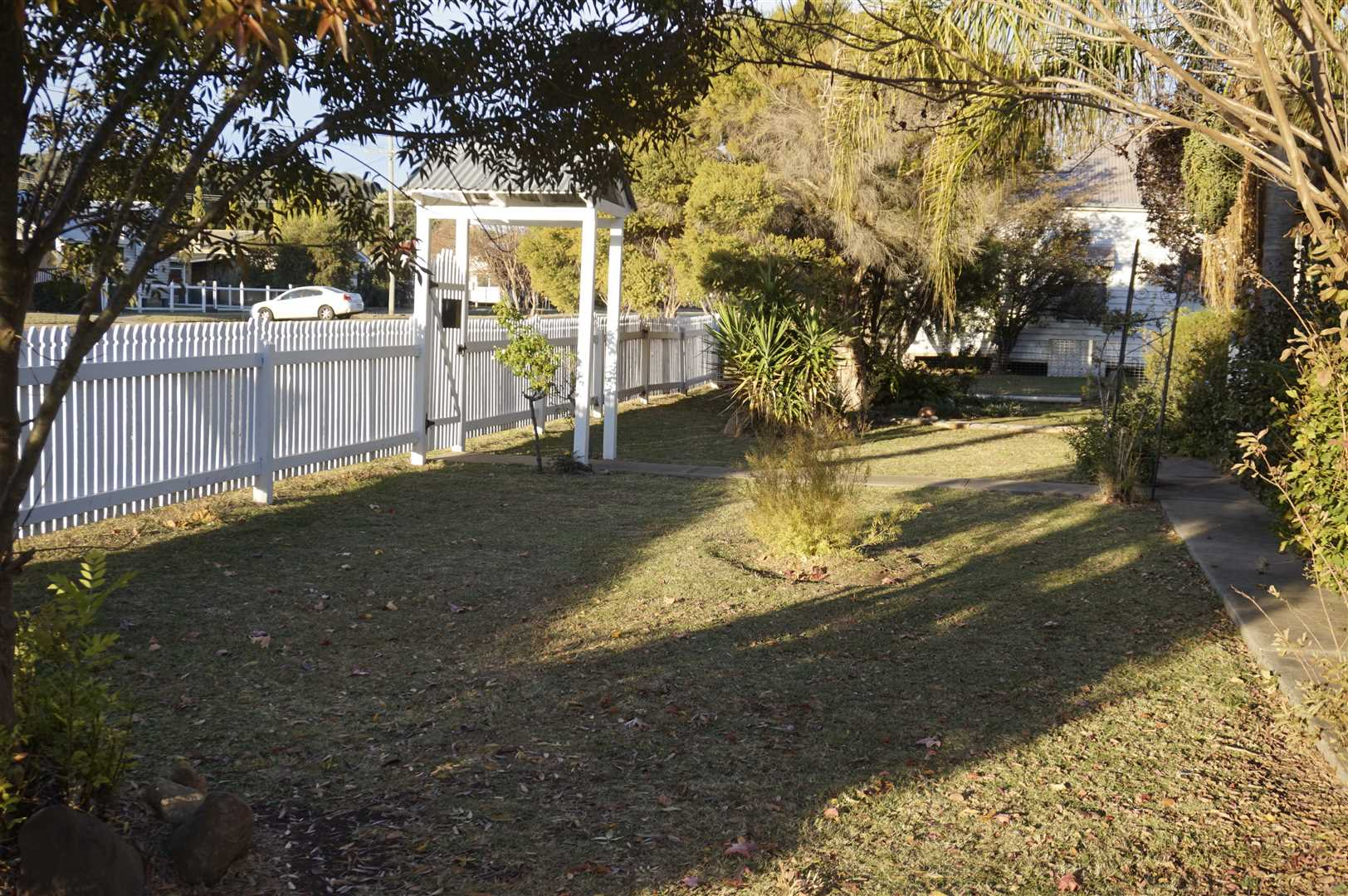 Gardens and Picket Fence
