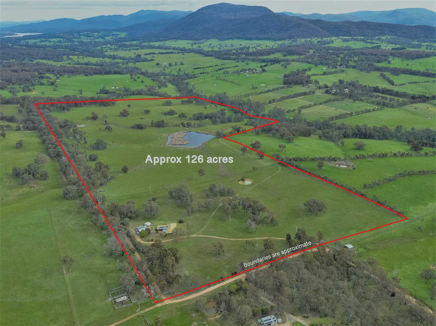 Aerial view with boundaries