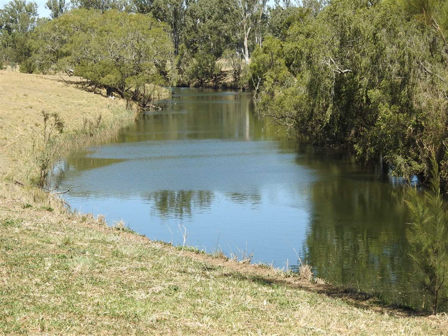 Main water hole on western boundary- permanent even when creek stops running !