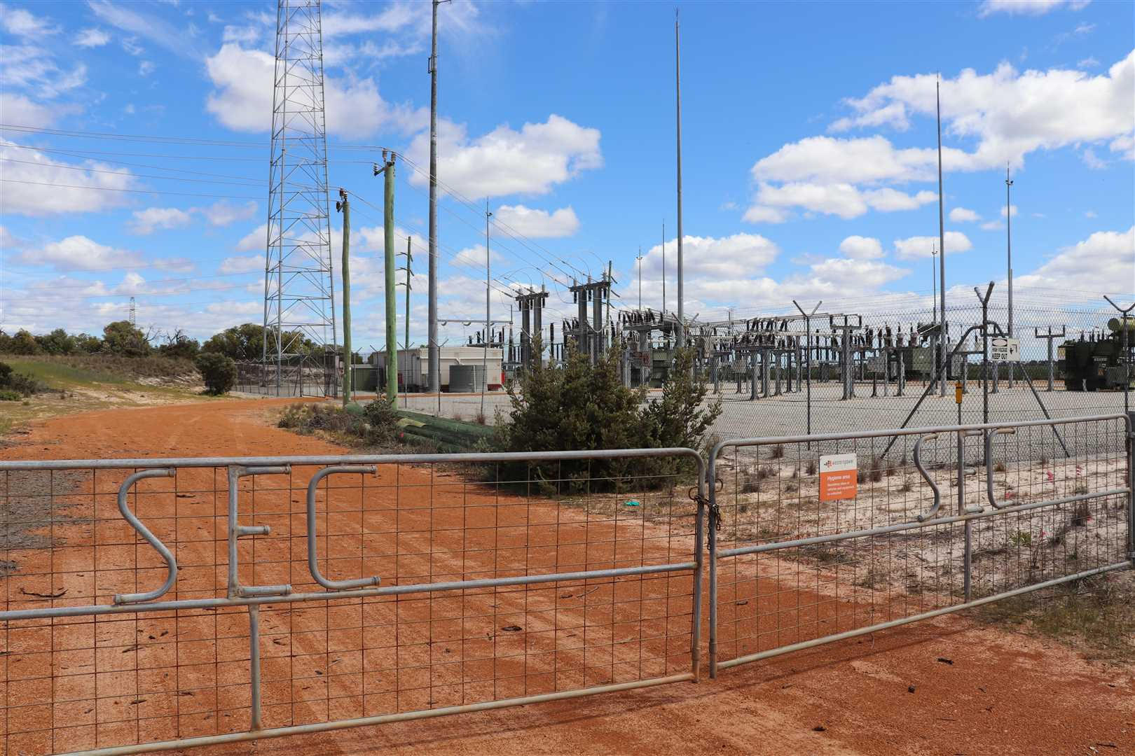 Western Power substation  west side of Brand Hwy, 400m from the farm for sale. FYI only.