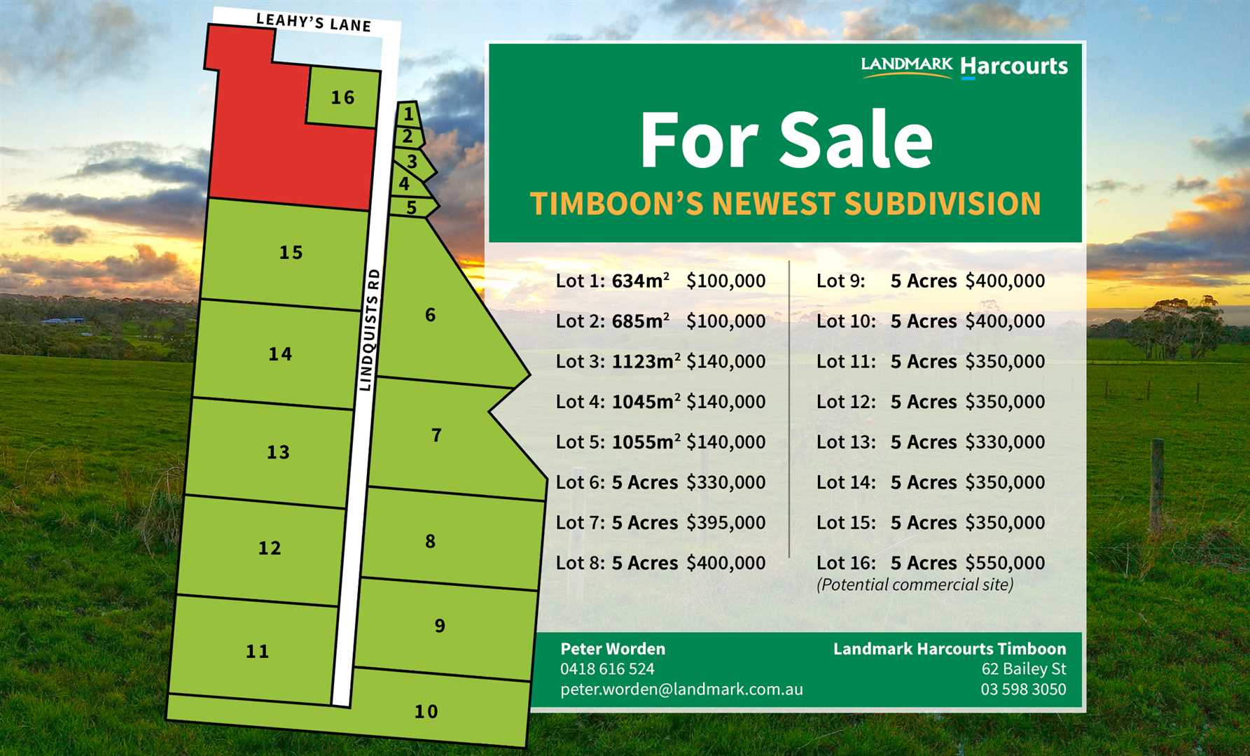 Exciting New Subdivision In Timboon