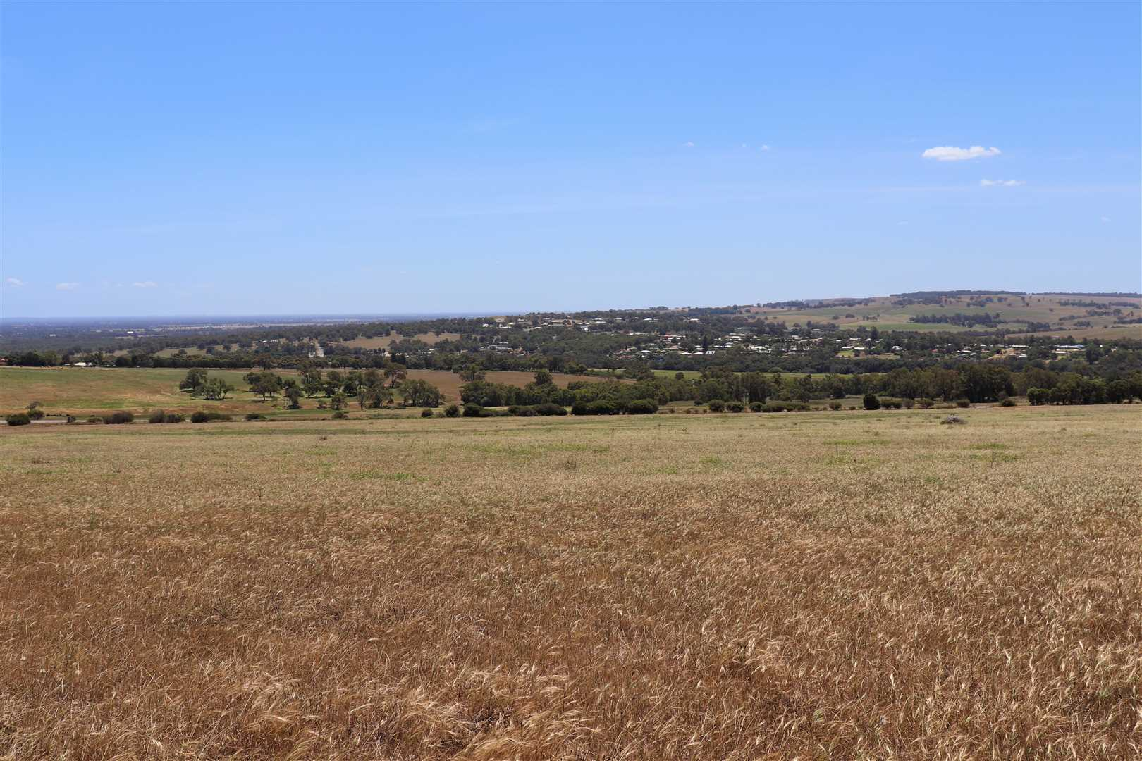 View over Gingin townsite