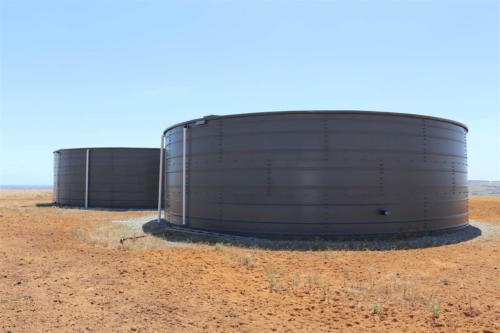 water tanks on hill